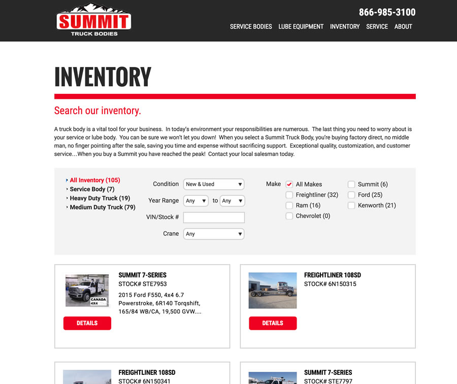 Summit Bodies Inventory
