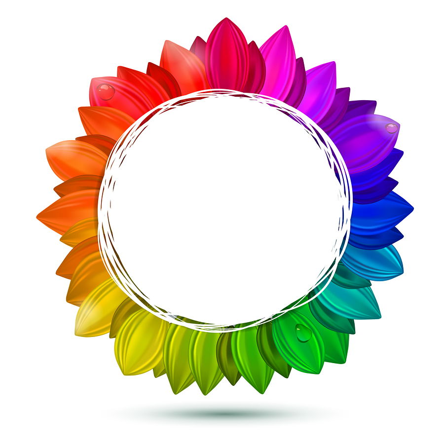 Multicolored Flower, Vector Concept